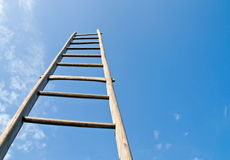 Blue sky and ladder Royalty Free Stock Images