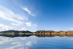 Blue sky on lake Royalty Free Stock Images