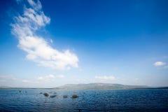 Blue sky and lake Stock Photos