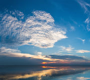 Blue sky on the lake Stock Image