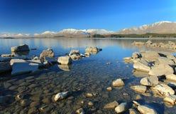 Blue Sky in Lake Tekapo Stock Image