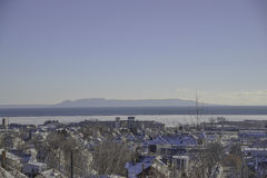 Blue sky Landscape view from thunder bay ontario Stock Photography