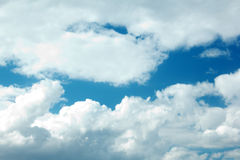 Blue Sky with large clouds Stock Images
