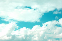 Blue Sky with large clouds Royalty Free Stock Images