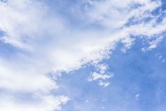 Blue sky and large white cloud. Texture of blue sky and large white cloud Royalty Free Stock Images