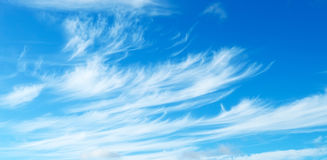 Blue sky with light cirrus clouds. Blue sky with a light cirrus clouds stock photo