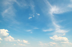 Blue sky with light clouds Stock Images
