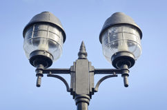 Blue sky and light. Blue sky and Old light - outside Royalty Free Stock Image