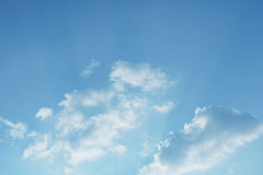 Blue Sky. And lighting in Cloud Day Stock Image