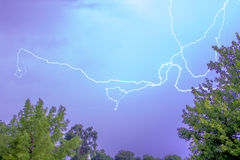 Blue Sky Lightning Stock Photography