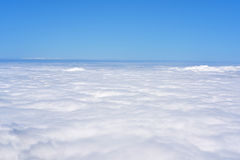 Blue sky with line of clouds. Abstract texture Stock Photography