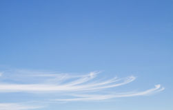 Blue sky with line clouds Stock Photo