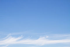 Blue sky with line clouds Royalty Free Stock Image