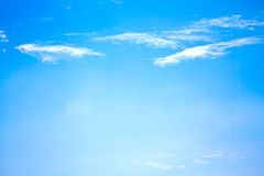 Blue sky with little clouds Royalty Free Stock Images