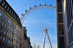 Blue sky in London royalty free stock photography