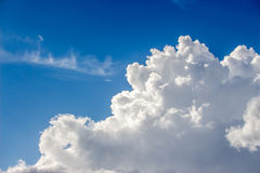 Blue sky with a lot of white puffy clouds Royalty Free Stock Photography