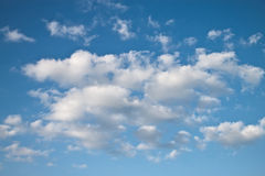 Blue sky and lots small clouds Royalty Free Stock Photography