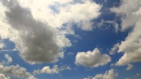 Blue sky low clouds timelapse stock footage