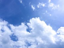 Blue sky. Make you feeling fresh and bright Royalty Free Stock Photos