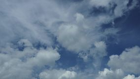 Blue sky and so many clouds. Time lapse stock footage