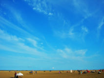 Blue Sky. At Marina beach Royalty Free Stock Image