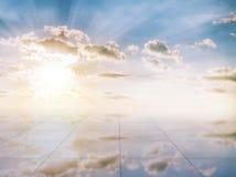 Blue sky and miror floor Stock Image