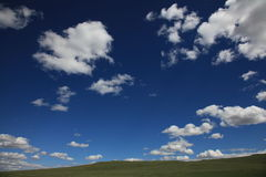 Blue sky in Mongolia Stock Images