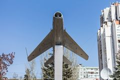 Monument to the Aviators. Aircraft of the USSR. Blue sky. Monument to the Aviators Stock Photo