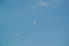 Blue sky and moon Royalty Free Stock Photo
