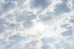 Blue sky in more cloud day. And abstract background Royalty Free Stock Images