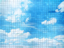 Blue sky mosaic Royalty Free Stock Image