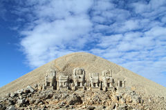 Mount Nemrud. Blue sky and mount Nemrud in Turkey Royalty Free Stock Image
