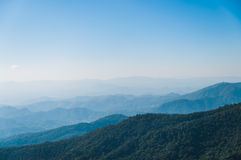 Blue Sky with mountain. At doi pui chiang mai,thailand Stock Images