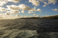 BLUE SKY AND MOUNTAIN AROUND CAPE HORN Stock Photo