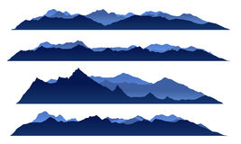 Blue sky mountain view set vector design Stock Photos