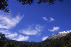 Blue sky in the mountains Royalty Free Stock Photo