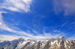 Blue sky and mountains Royalty Free Stock Photo