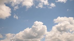 Blue sky with moving clouds. Environment. stock footage