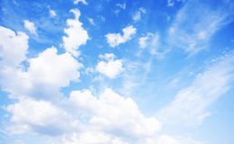 Blue sky natural background Royalty Free Stock Photos