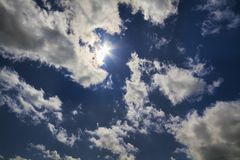 Blue sky, natural sun Stock Image