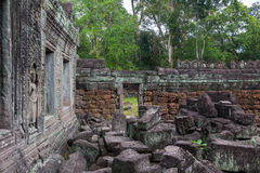 Blue sky near the entrance to ancient Preah Khan temple in Angkor. Siem Reap, Cambodia. Stock Image