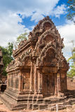 Blue sky near the entrance to ancient Preah Khan temple in Angkor. Siem Reap, Cambodia. Stock Photography