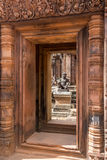 Blue sky near the entrance to ancient Preah Khan temple in Angkor. Siem Reap, Cambodia. Stock Images