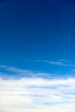 Blue sky with nice cloudscape Royalty Free Stock Photos