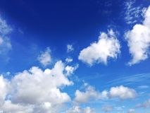 Blue sky. A nice blue sky in sunny days Royalty Free Stock Photography