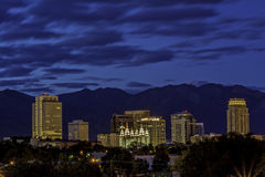 Blue sky night over the capital city of Udah Stock Photography