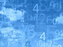 Blue sky numbers background Stock Photography