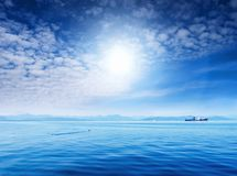 Blue sky and ocean Royalty Free Stock Photo
