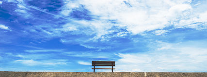 Blue sky and ocean in the background Royalty Free Stock Images