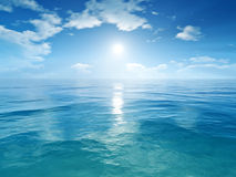 Blue sky ocean Stock Photos